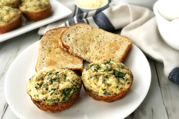 Spinach-Parmesan-Egg-Muffins