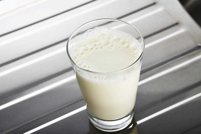 Glass of skim milk
