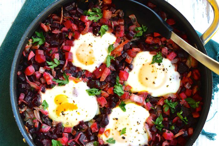 Beet-Hash-with-Runny-Eggs