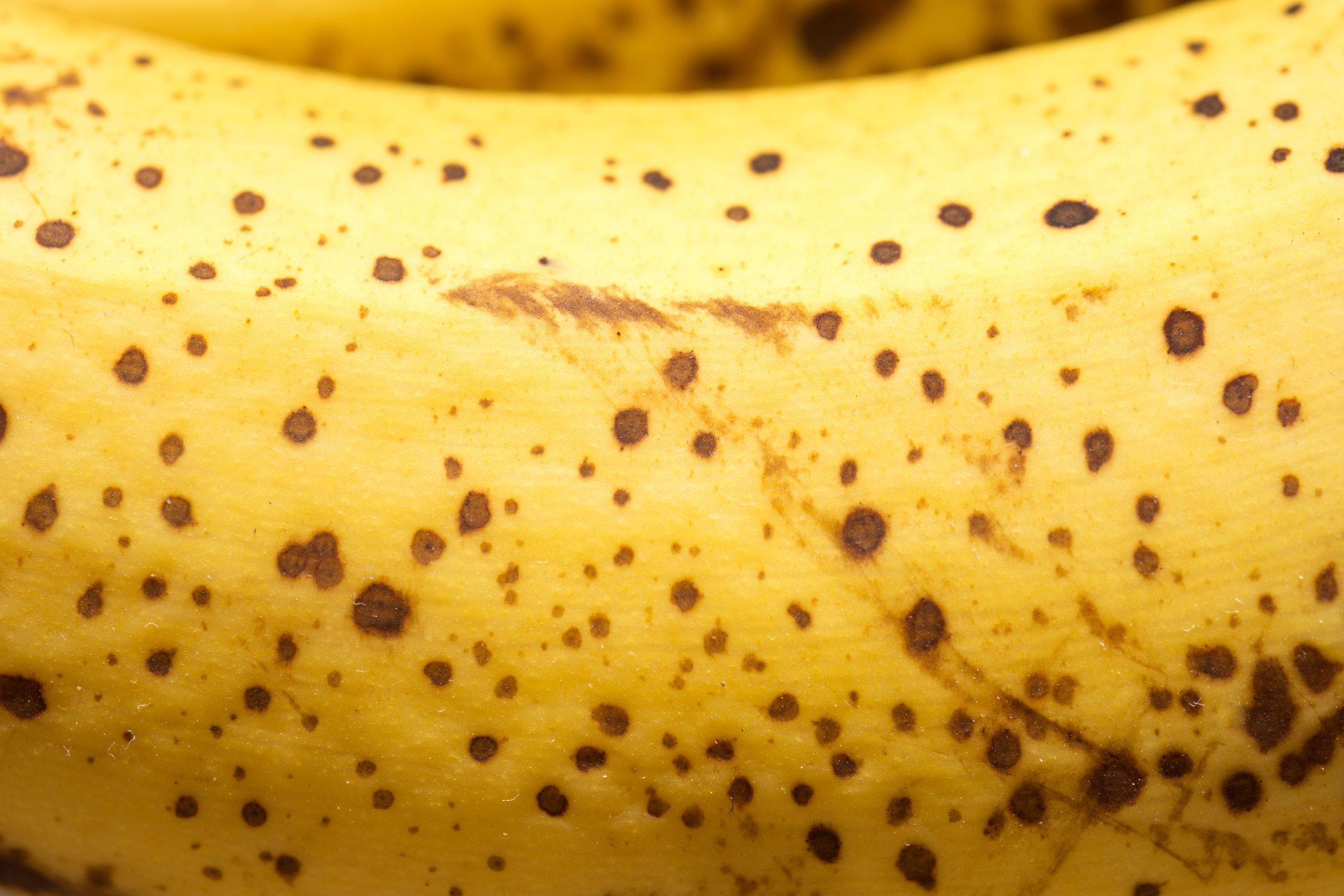 close up of a ripe banana