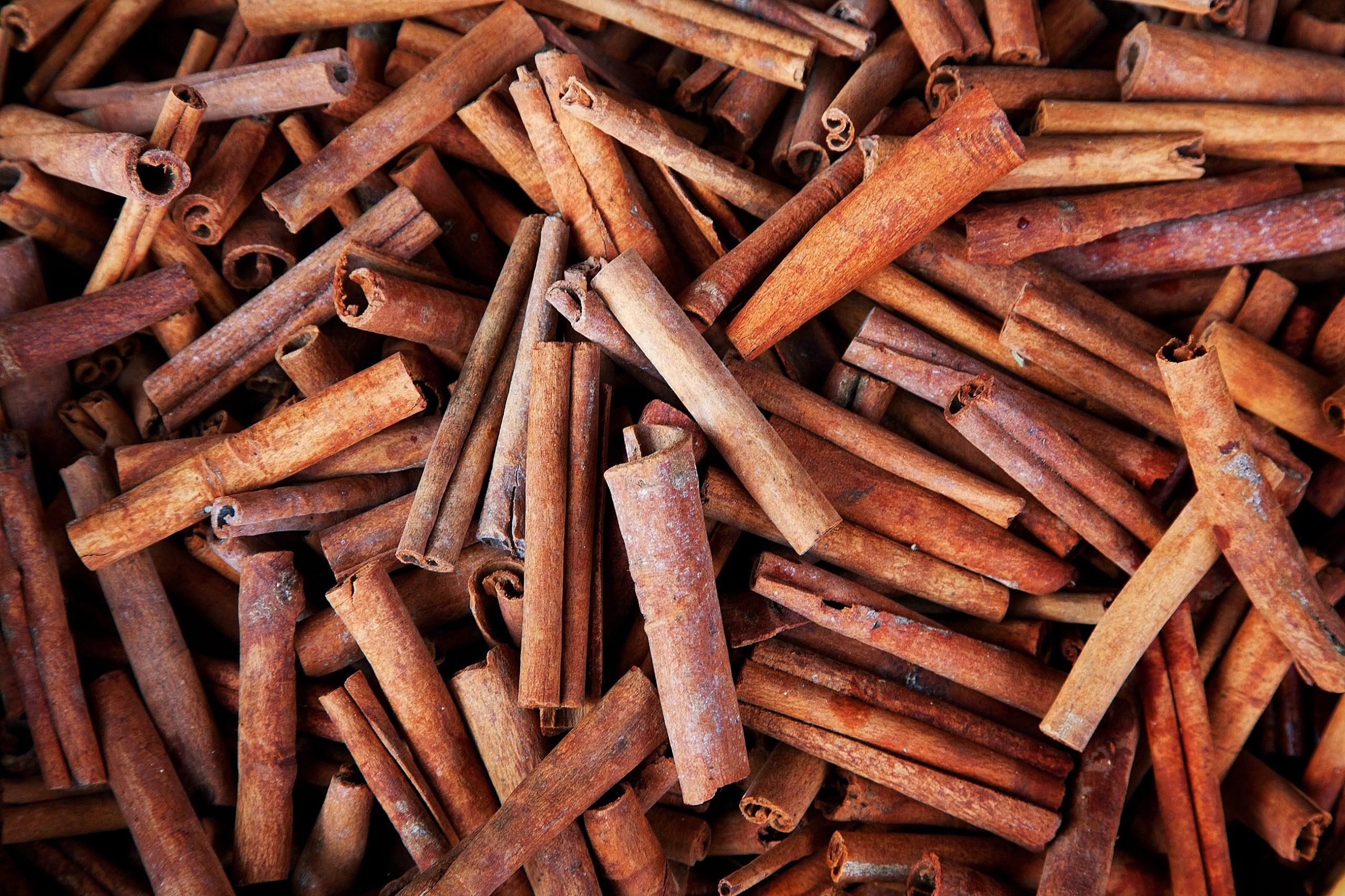 cinnamon sticks full frame