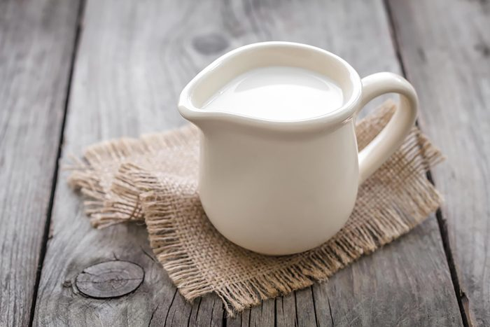 small pitcher of milk