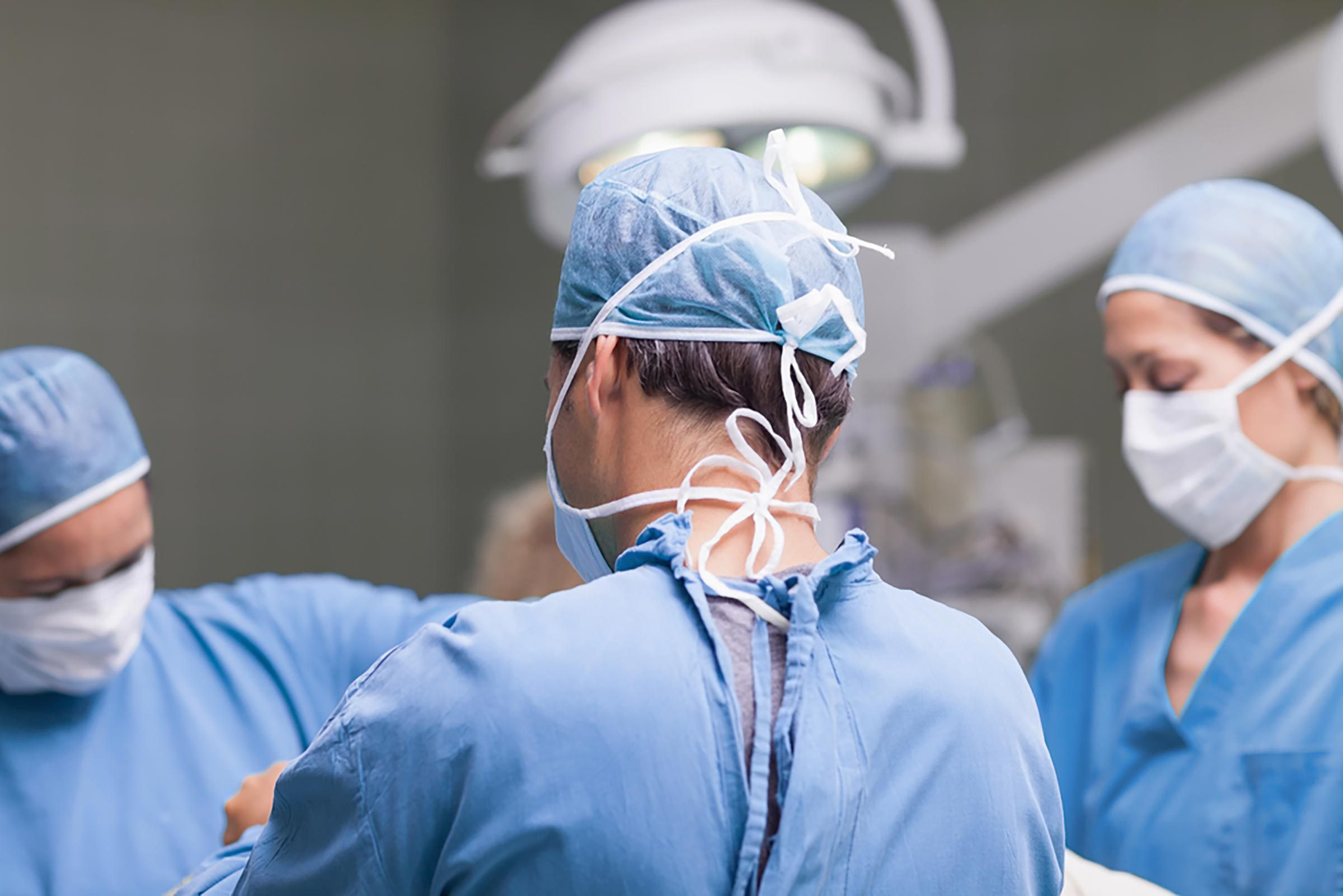 surgeon in operating room