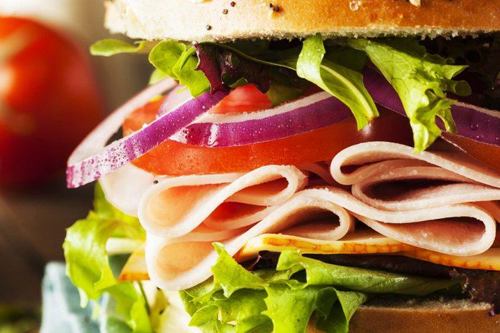 Cold cut sandwich.