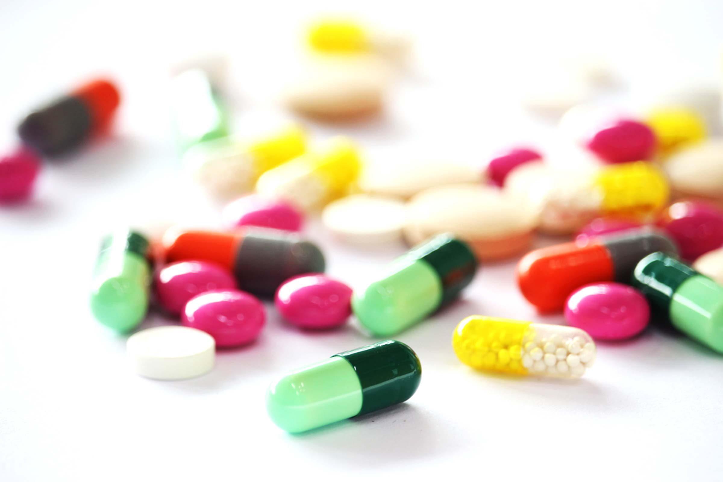 assortment of pills and capsules