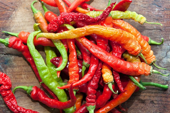 assortment of hot peppers