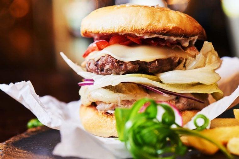 Fast food burger.