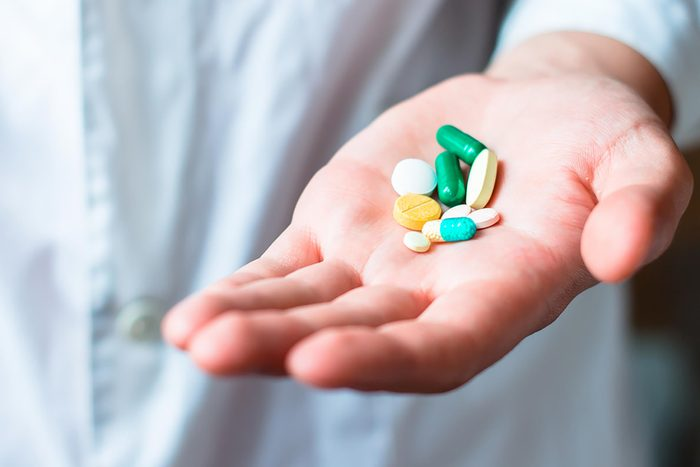 handful of medication