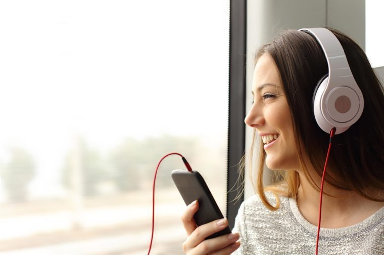 Listening to head phones