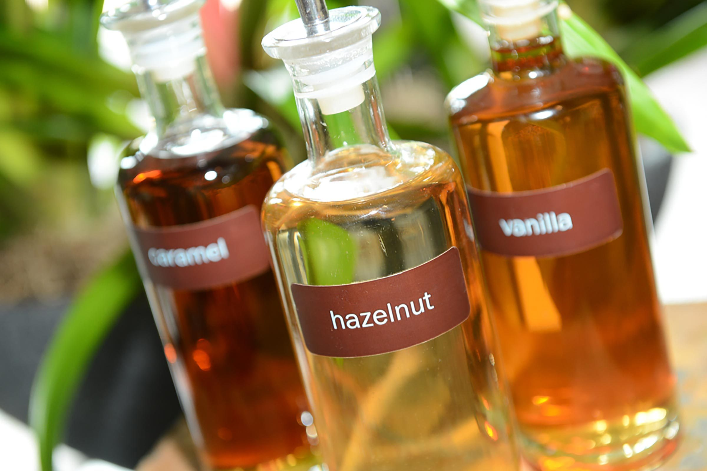 Syrups in glass containers