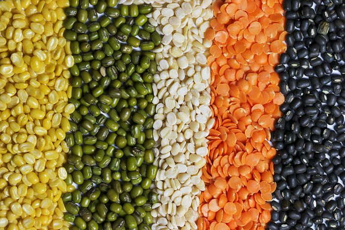 different legumes including lentils