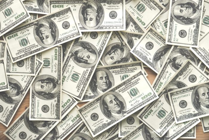 full frame shot of one hundred dollar bills