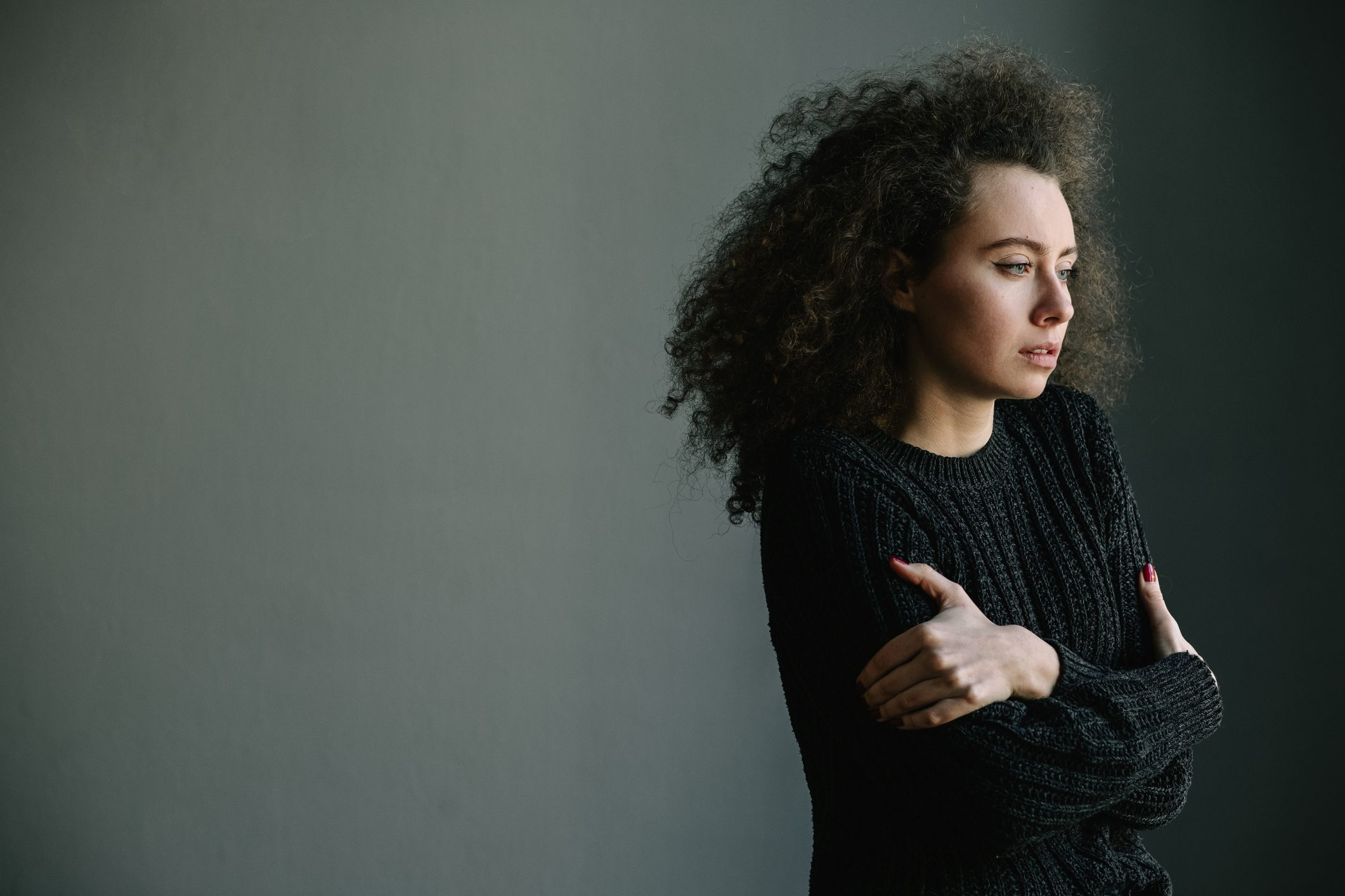 young woman struggling with depression
