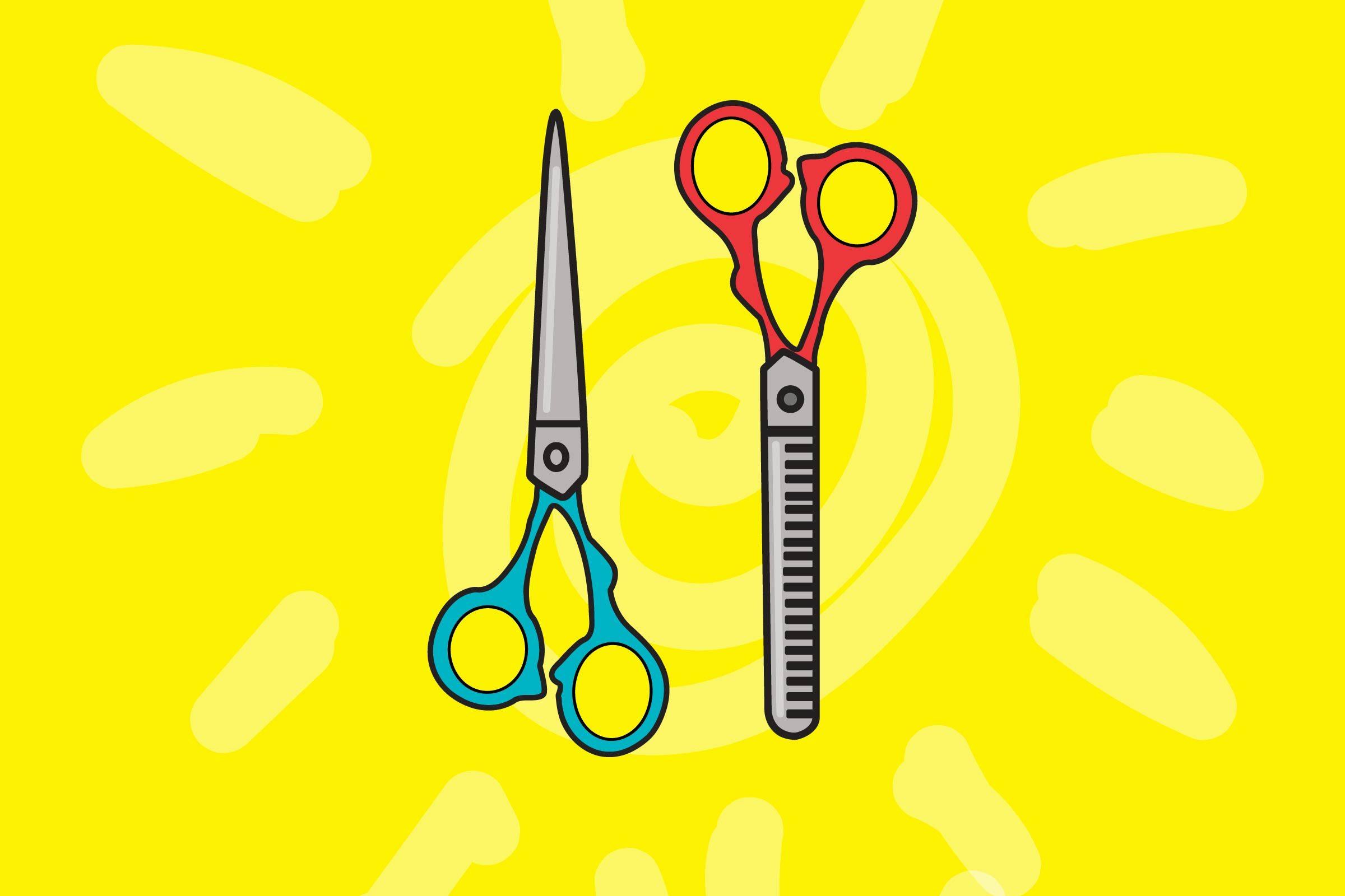 illustration of hair scissors