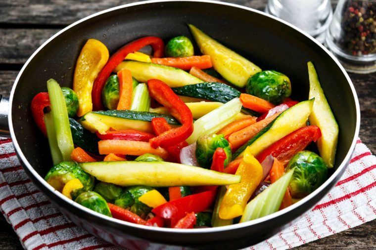 healthy cooking eating vegetables