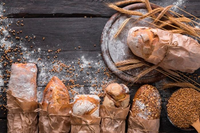 Loaves of artisan bread.