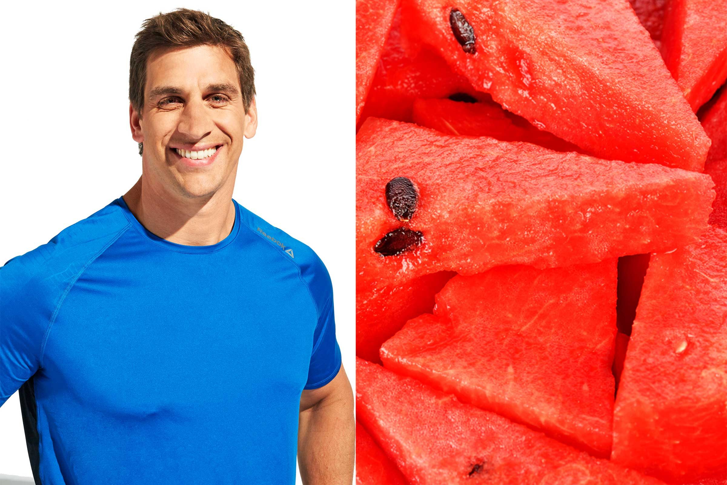 Chris Mohr and watermelon