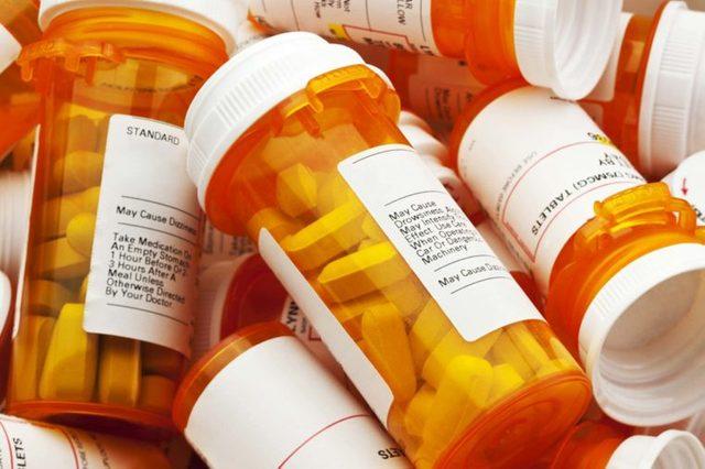 prescription pill bottles