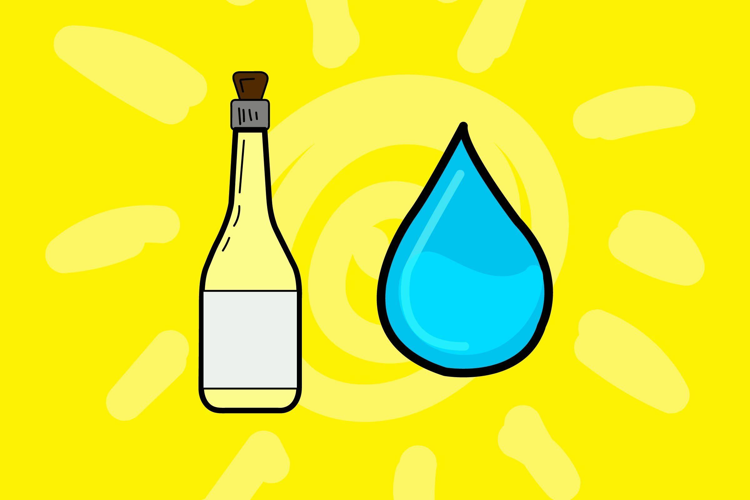 illustration of vinegar and bottle