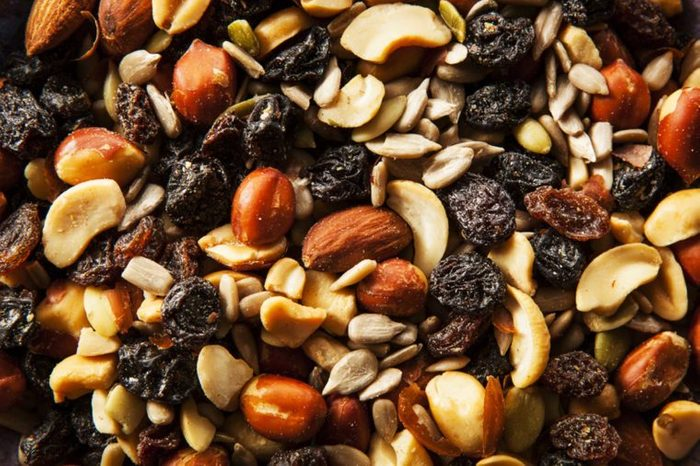 close up of trail mix