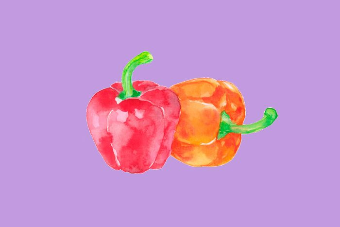 A pair of bell peppers