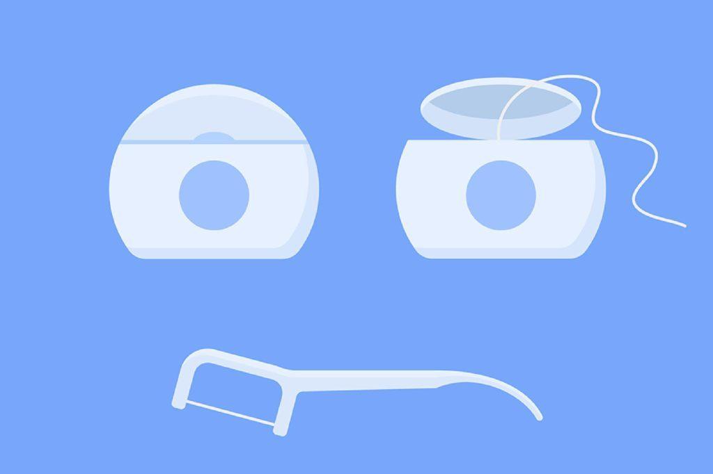 dental floss illustration