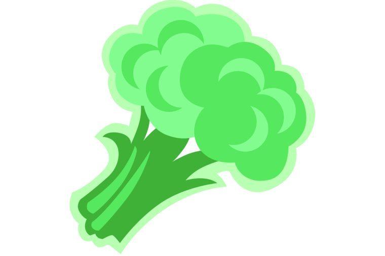Illustration of bright green broccoli.