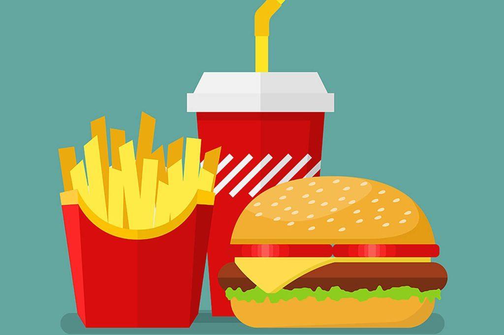 illustration of fast food