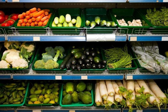 produce section of a grocery store