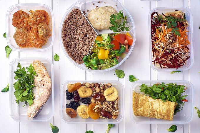 healthy meals in dishes