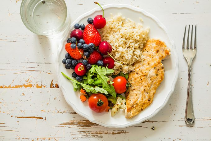 healthy dinner meal