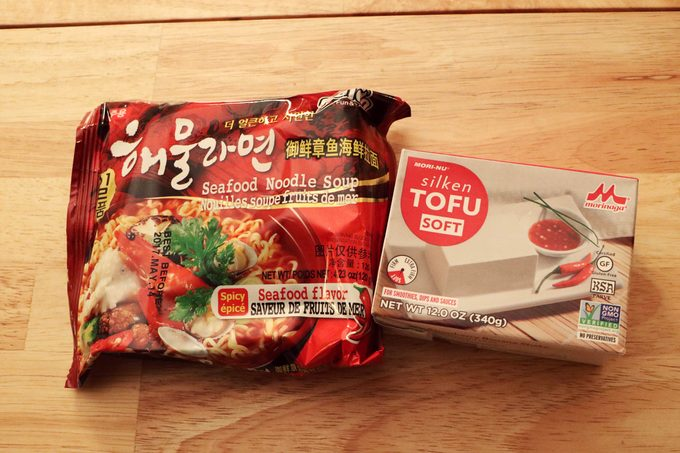 Ramen noodle package and tofu package