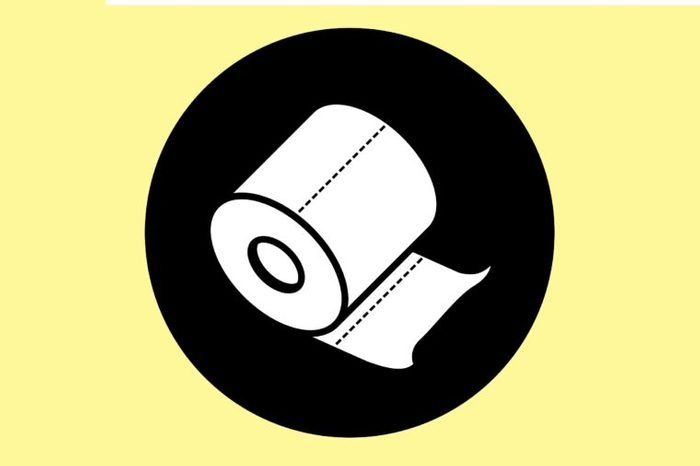 Illustration of a roll of toilet paper