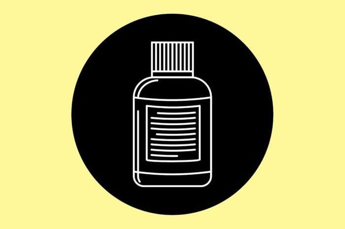 Illustration of a bottle of diuretics.