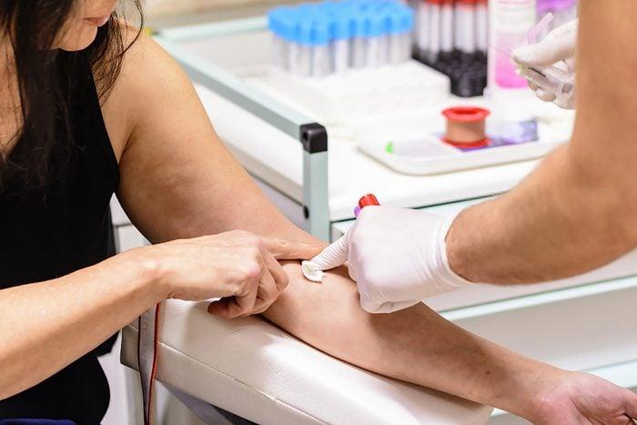 woman having blood test
