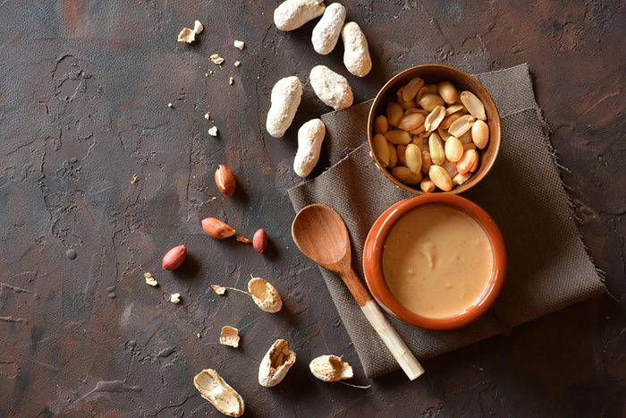 nuts and nut butter in jar