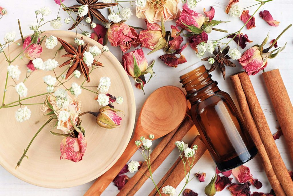 aromatherapy dried flowers cinnamon smells