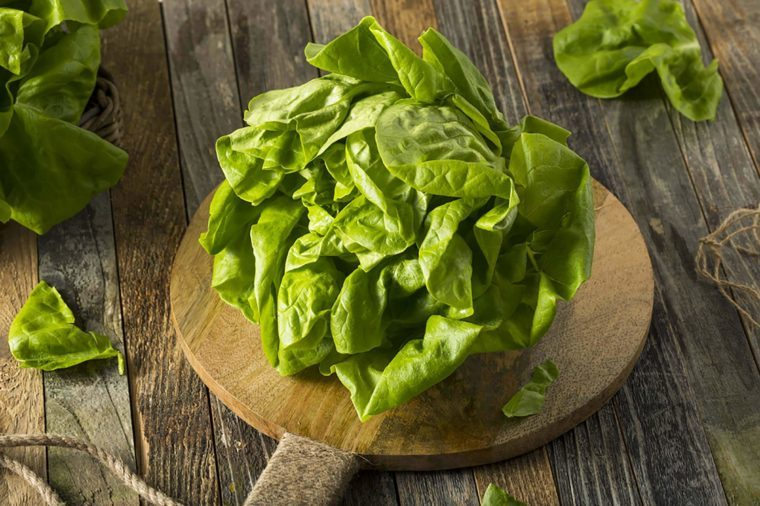 Lettuce on a wooden table