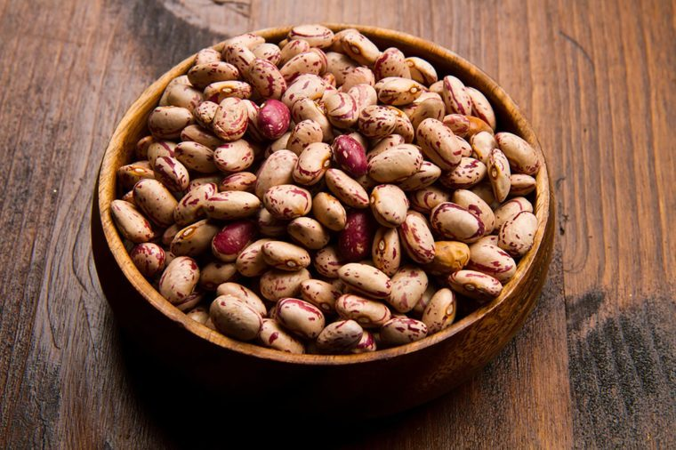 dried pinto beans in a bowl