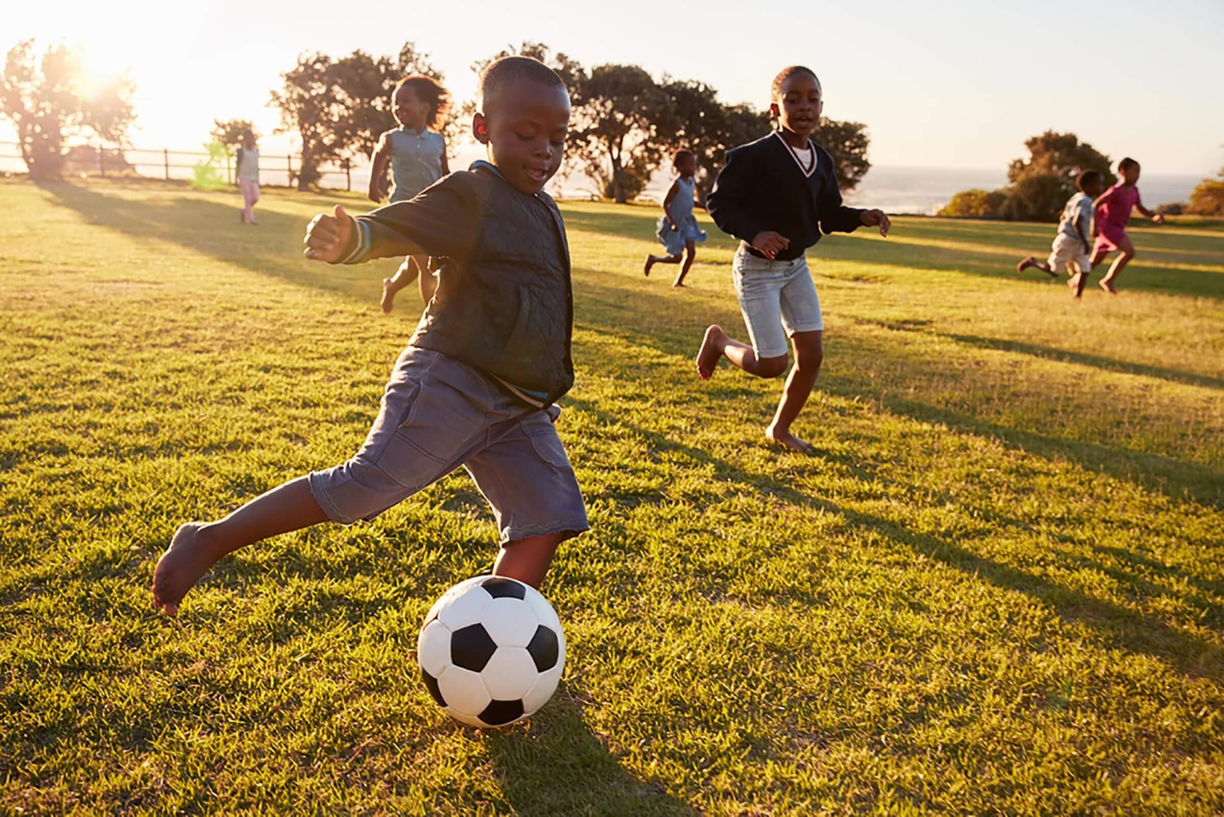 soccer children exercise