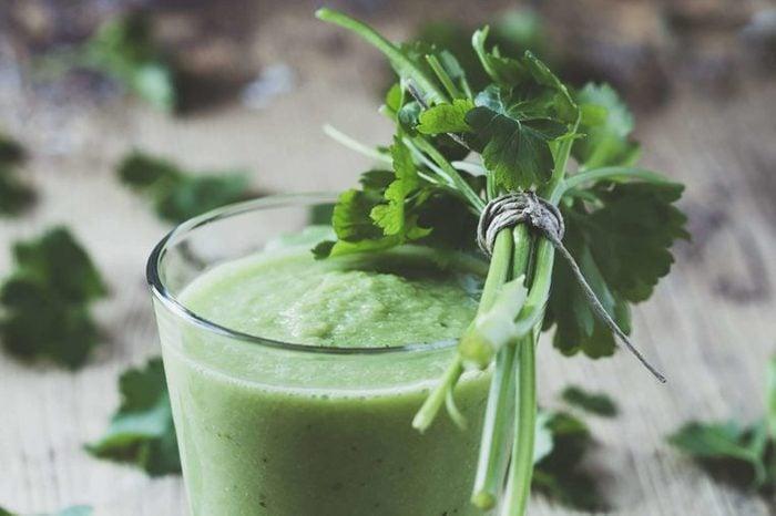 Parsley garnish green smoothie