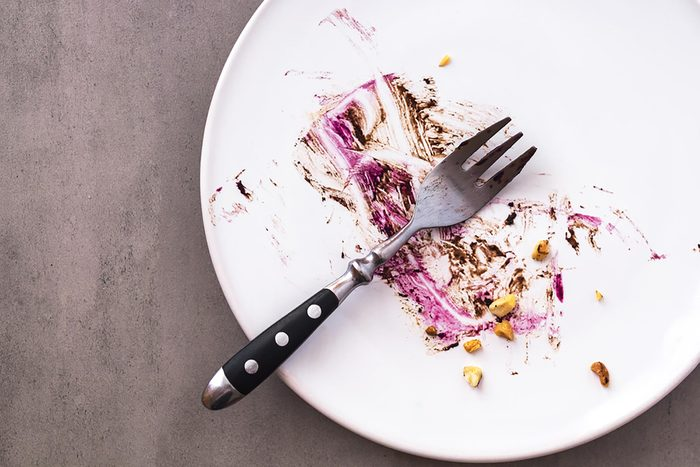 plate after eating