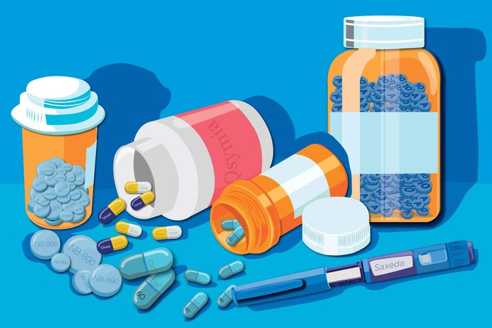 Illustration of the weight loss medications.