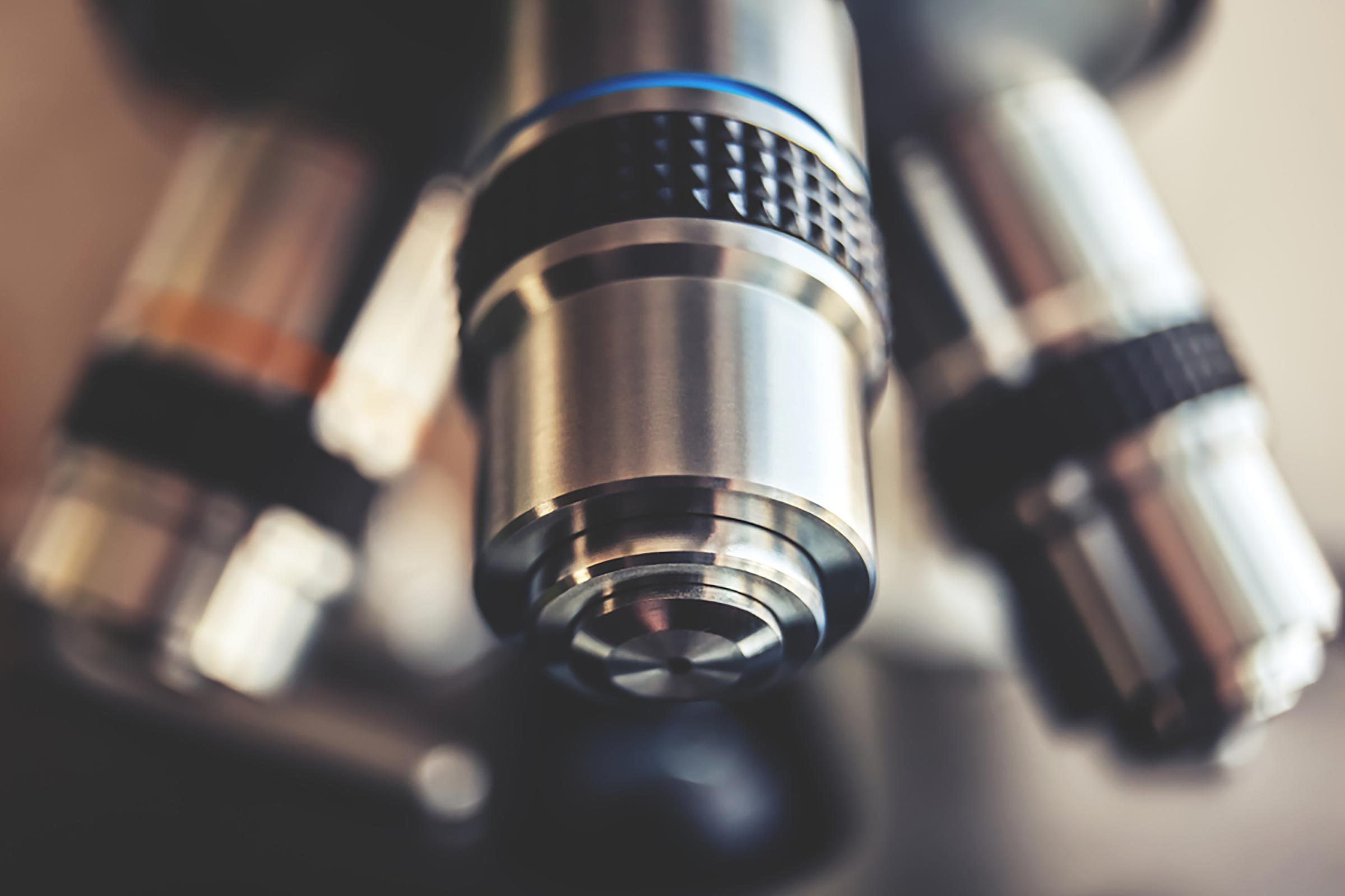 Image of a microscope lens.