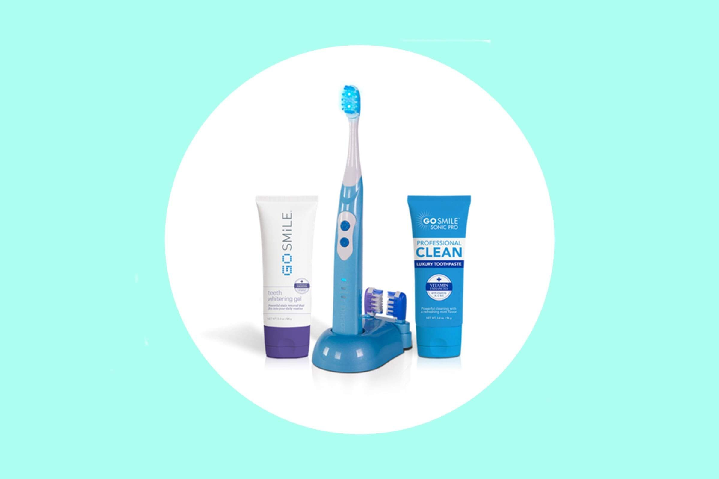 Go Smile brush and whitening products.