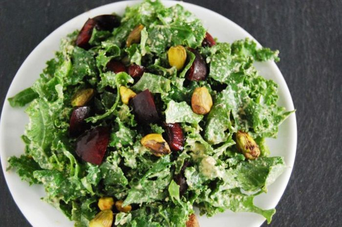 kale cherry pistachio