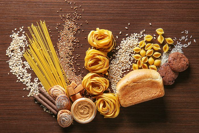 Pasta, bread and other carbs