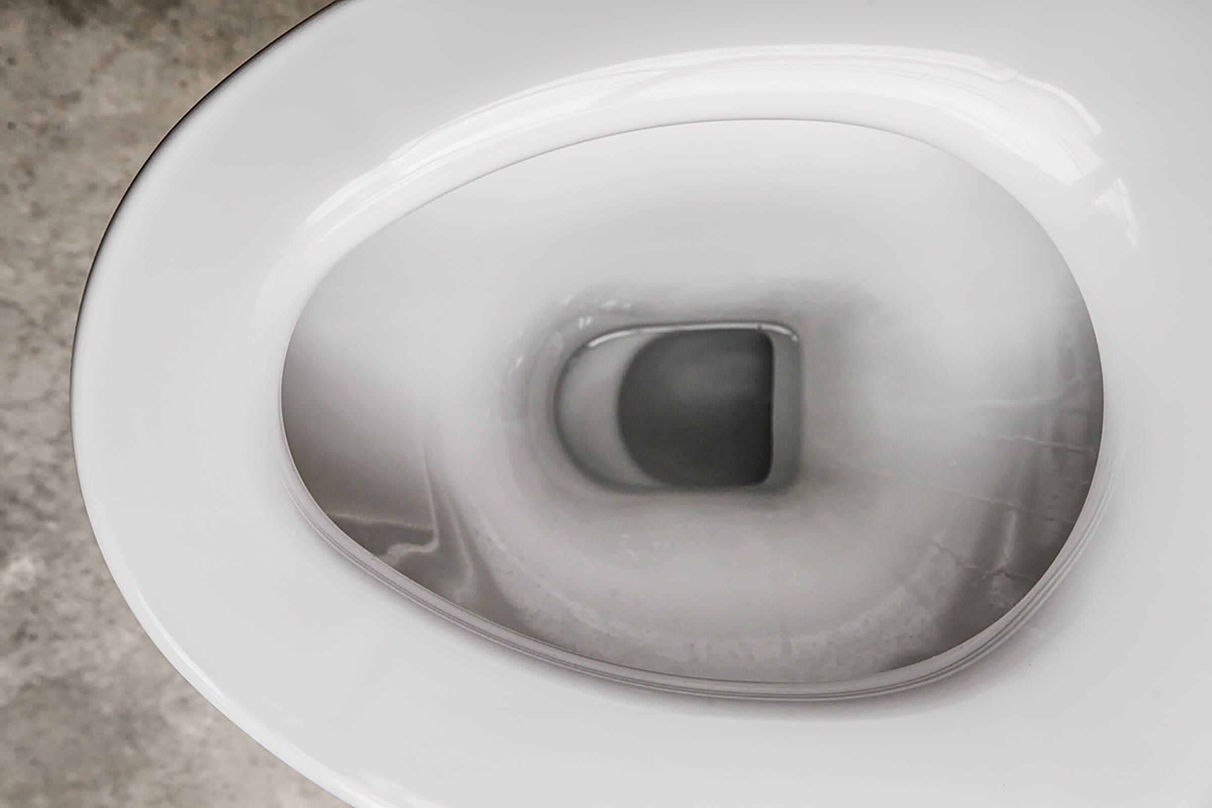 empty white toilet bowl
