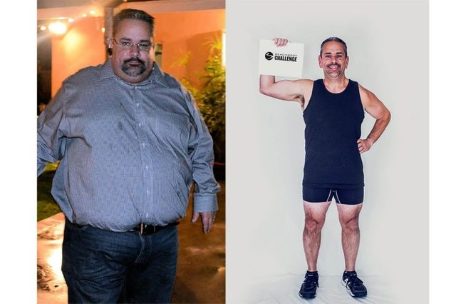 Daniel Pena, before and after