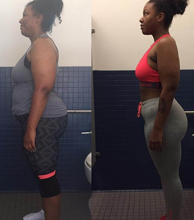 Raven Wright, before and after